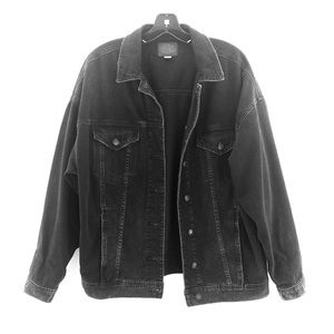 American Eagle Boyfriend Fit Black Denim Jacket